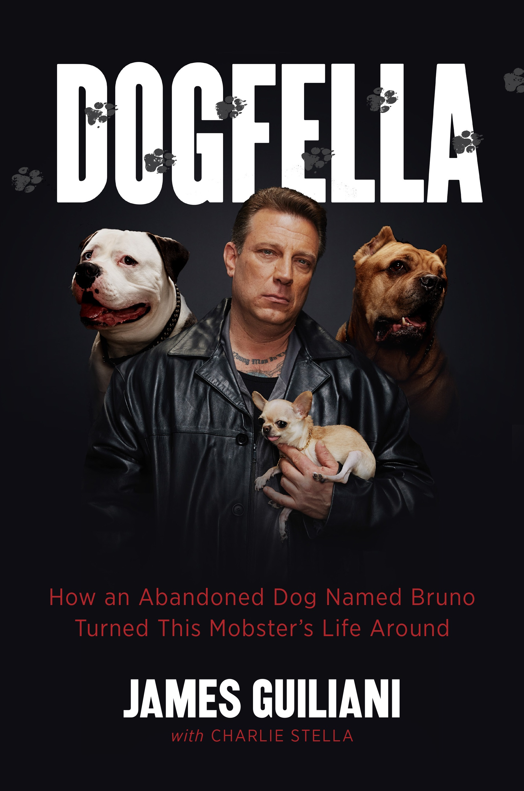 """Dogfella: How an Abandoned Dog Named Bruno Turned This Mobster's Life Around"" by James Guiliani (with Charlie Stella) c.2015, Da Capo Press $24.99 / $31.50 Canada 239 pages"