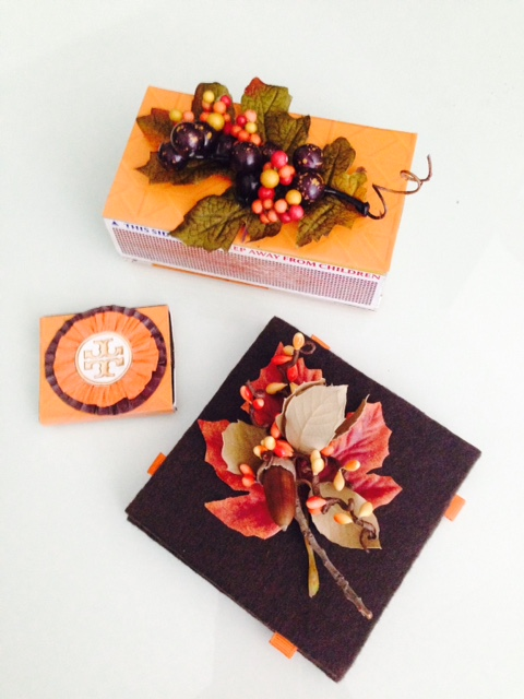 image: Fall foliage matchboxes credit: carol a. tanzi