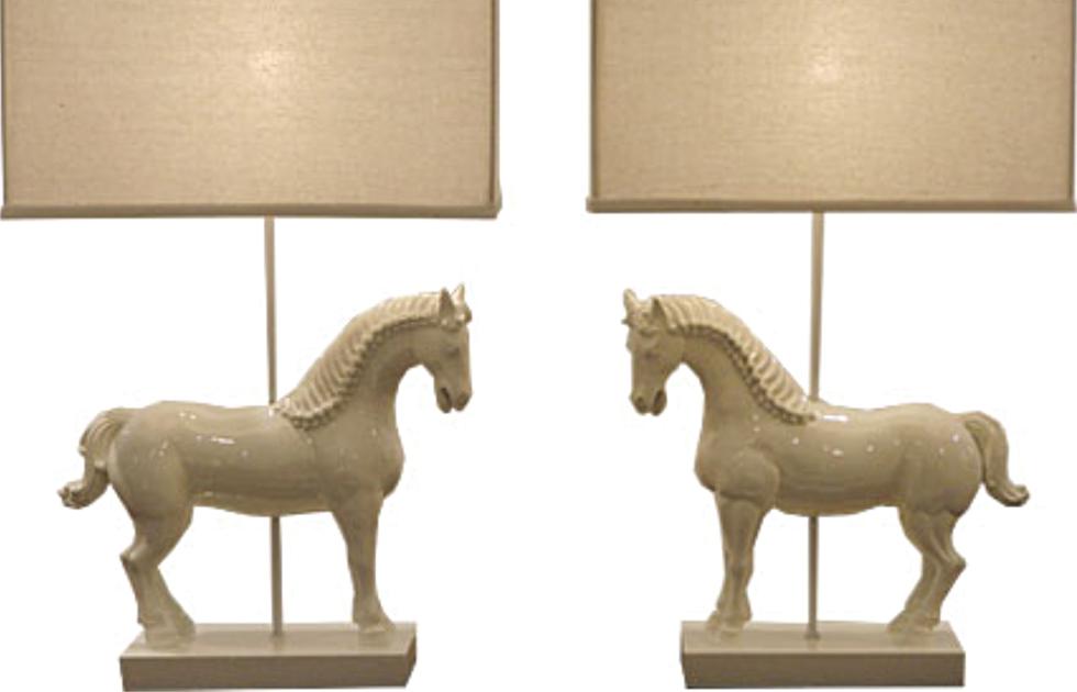 Pas de Deux Horse Lamps, $1200; available at shop.toddhase.com