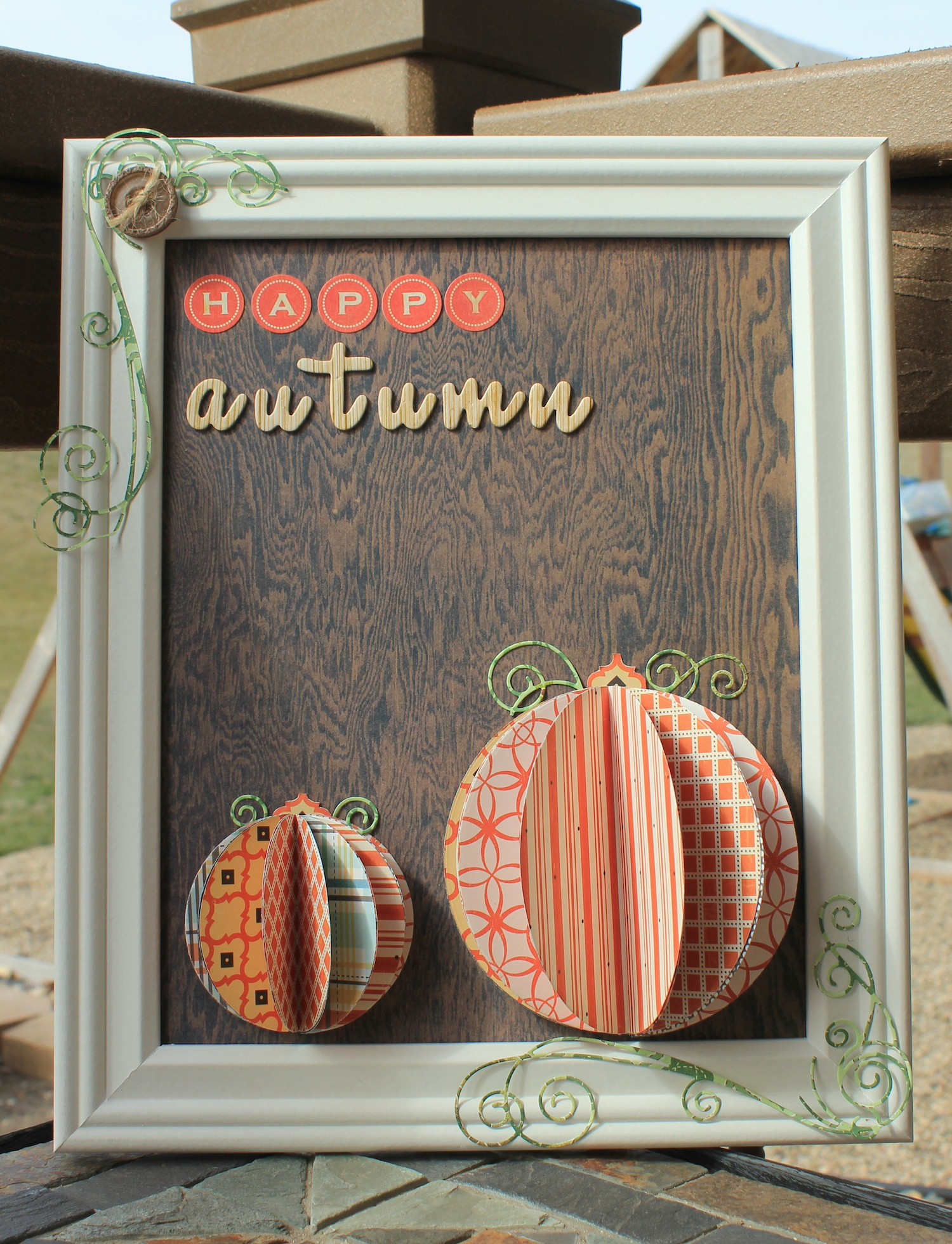 image: This frame will have you saying happy autumn in no time credit: glue dots international