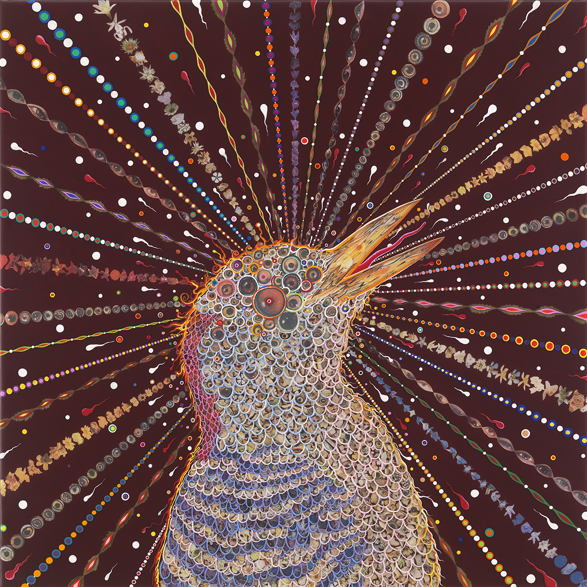 'Red Bird Two,' by artist Fred Tomaselli, who is participating in the 2015 Ephemeral