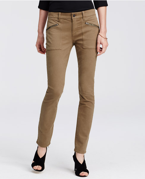 Slim-fitting cargoes are a perfect pick for date night (credit: ann taylor)