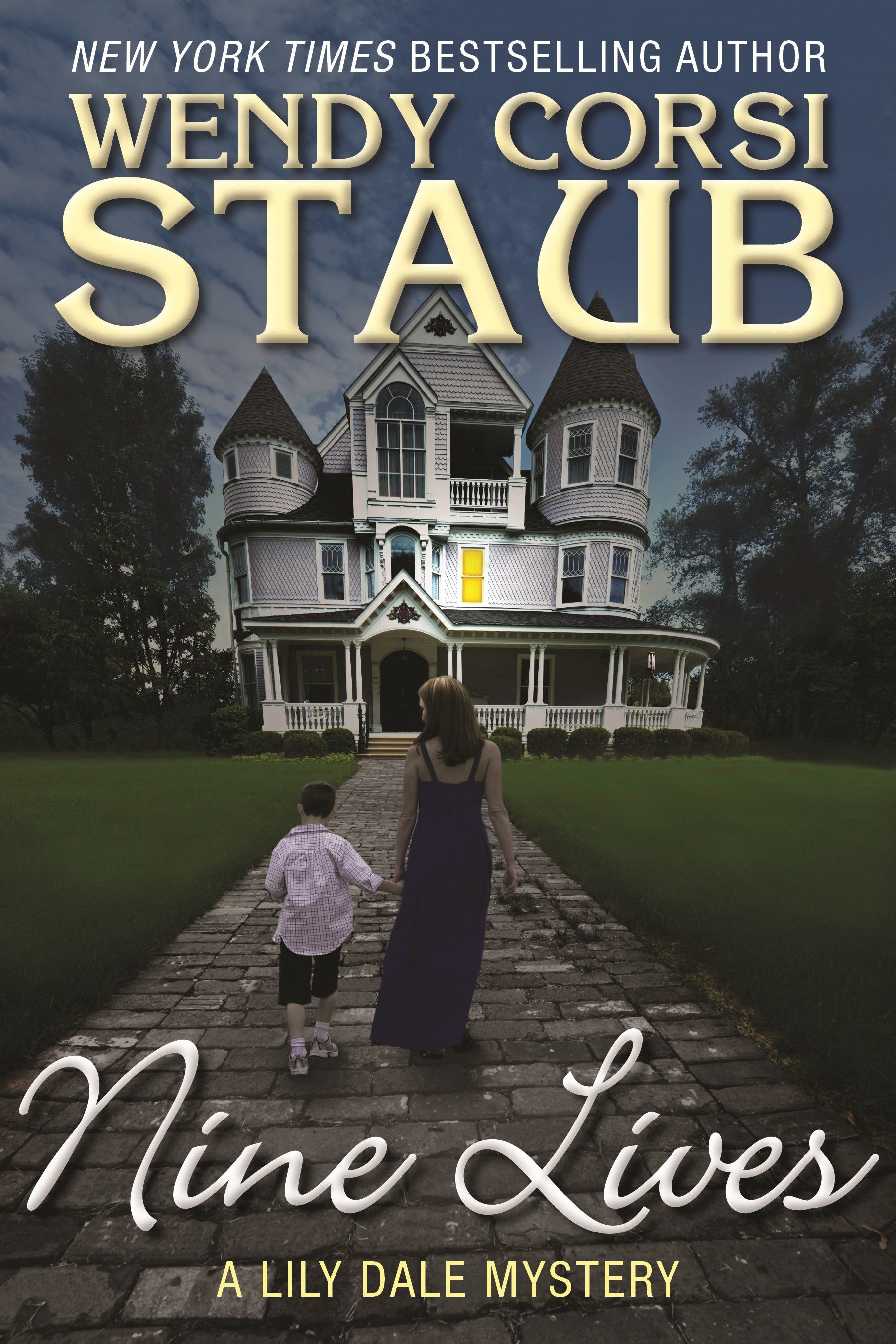 """Nine Lives: A Lily Dale Mystery"" by Wendy Corsi Staub c.2015, Crooked Lane Books $24.99 / $34.50 Canada 288 pages"