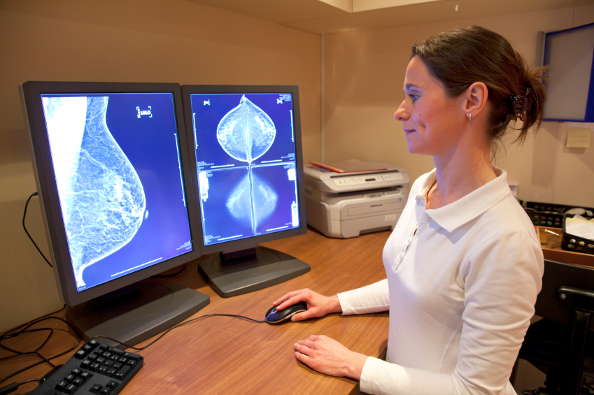 Radiology technician examens mammography test. image: picturepartners