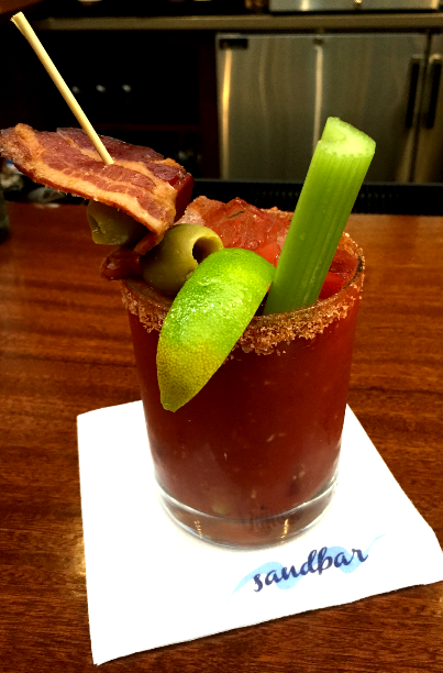 A bacon-infused Bloody Mary at Sandbar will cure that hangover image: sandbar