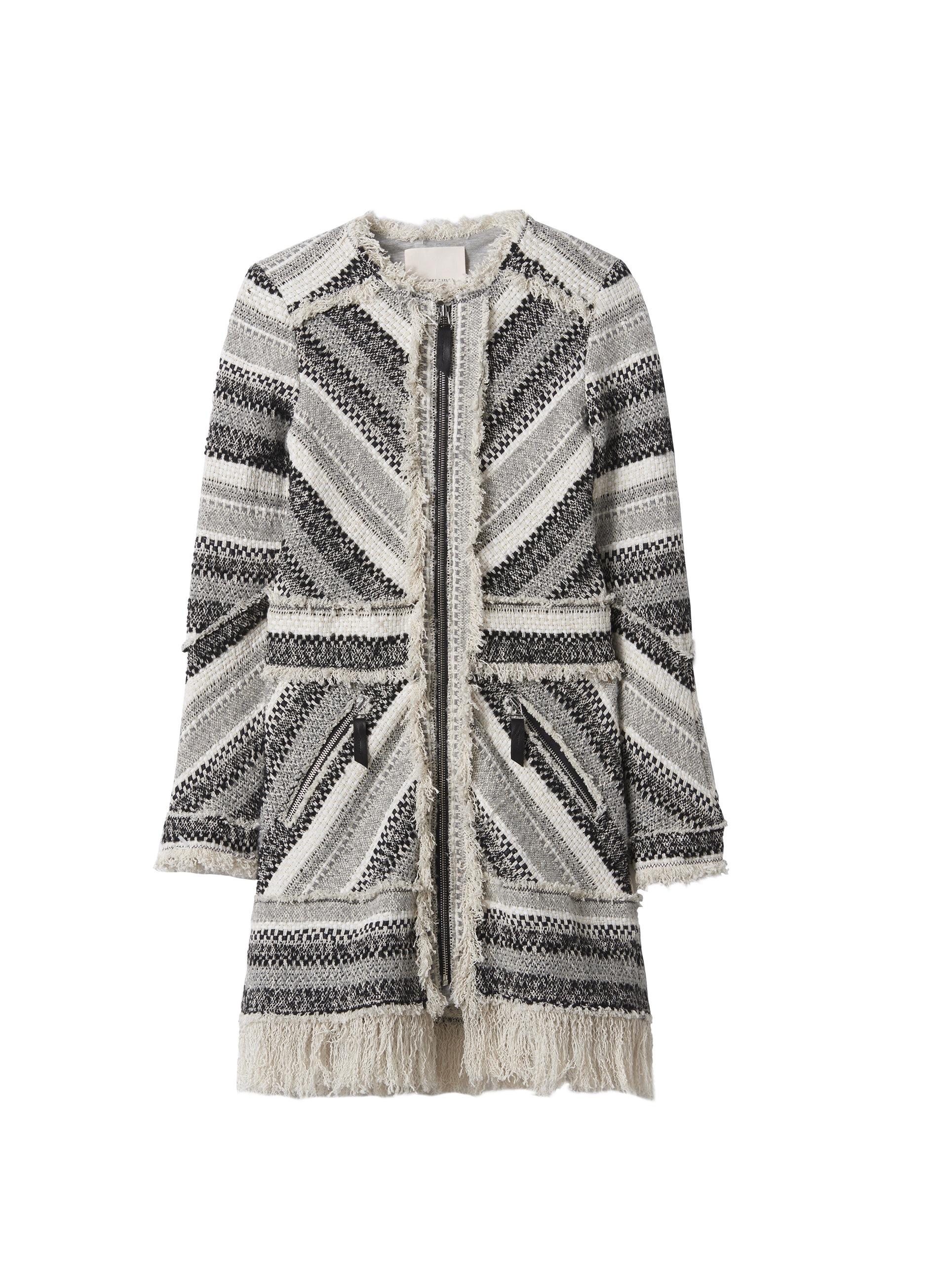 image: fringe wool hooded coat, rebecca taylor & rebeccataylor.com