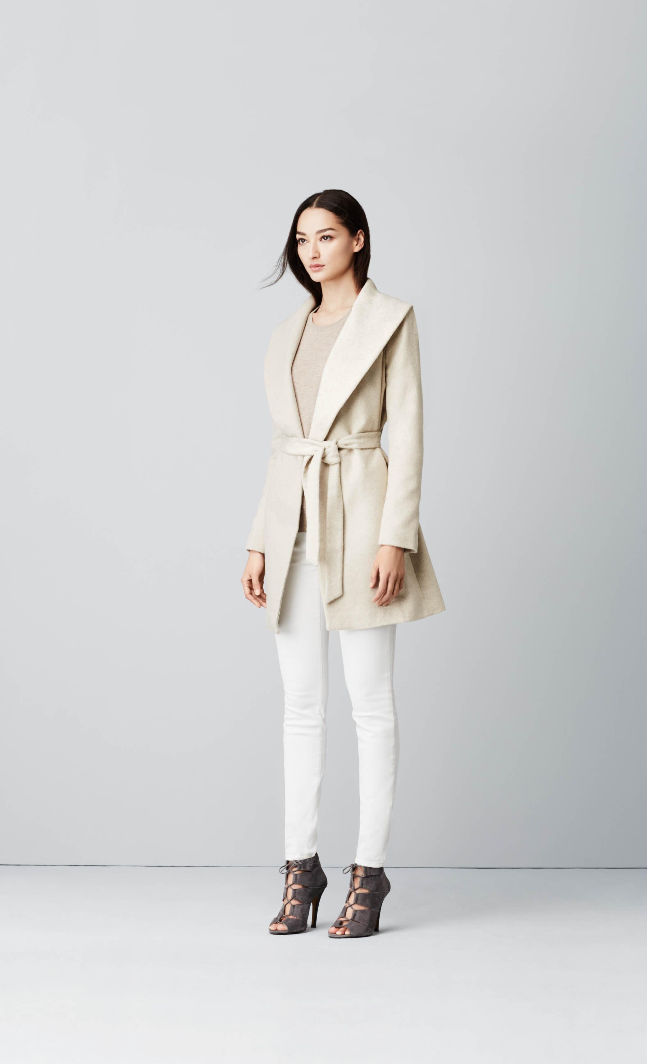 image: ann taylor wrap tie coat