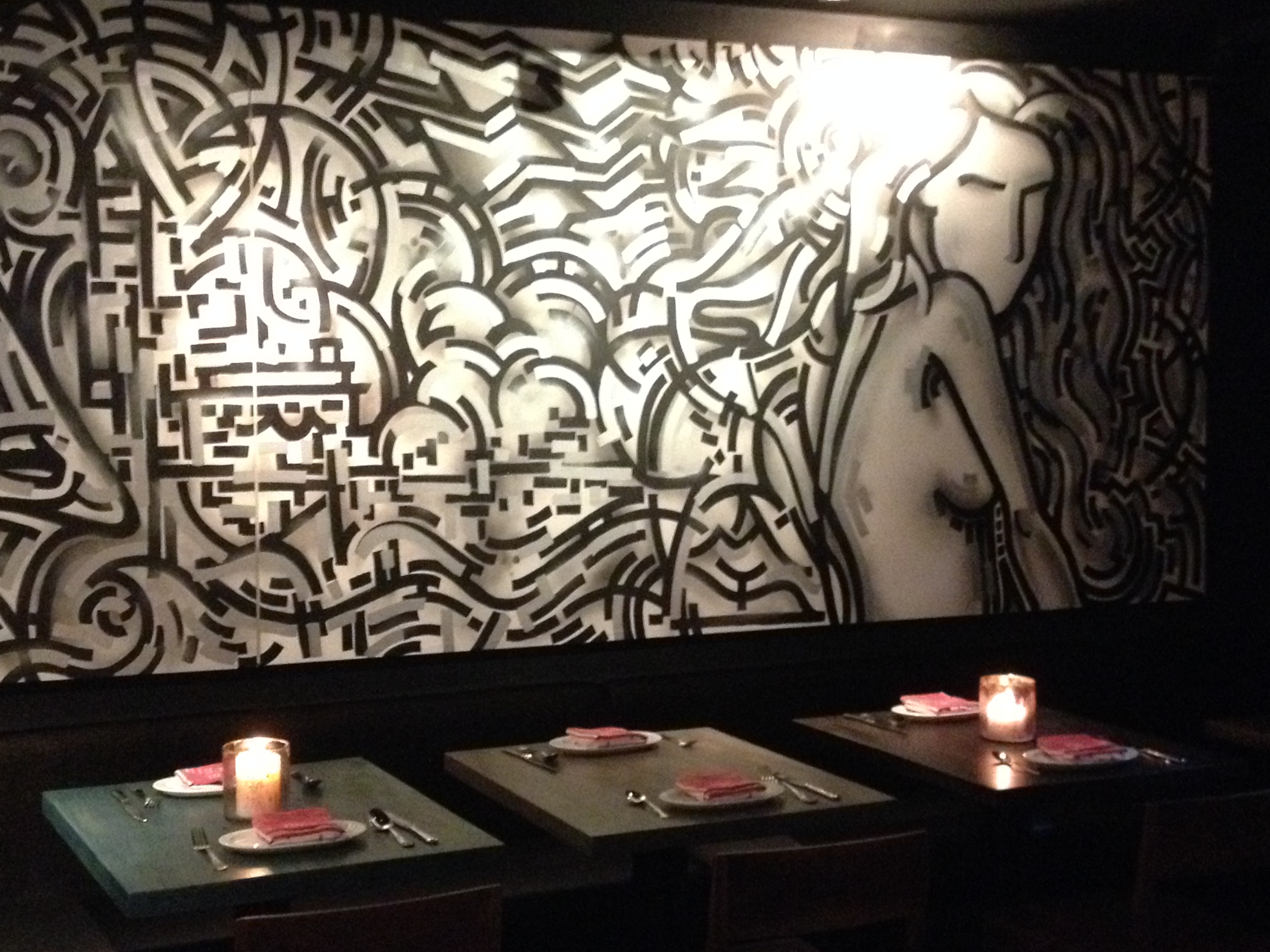 Botequim's graffiti murals ... can you hear the samba rhythms?