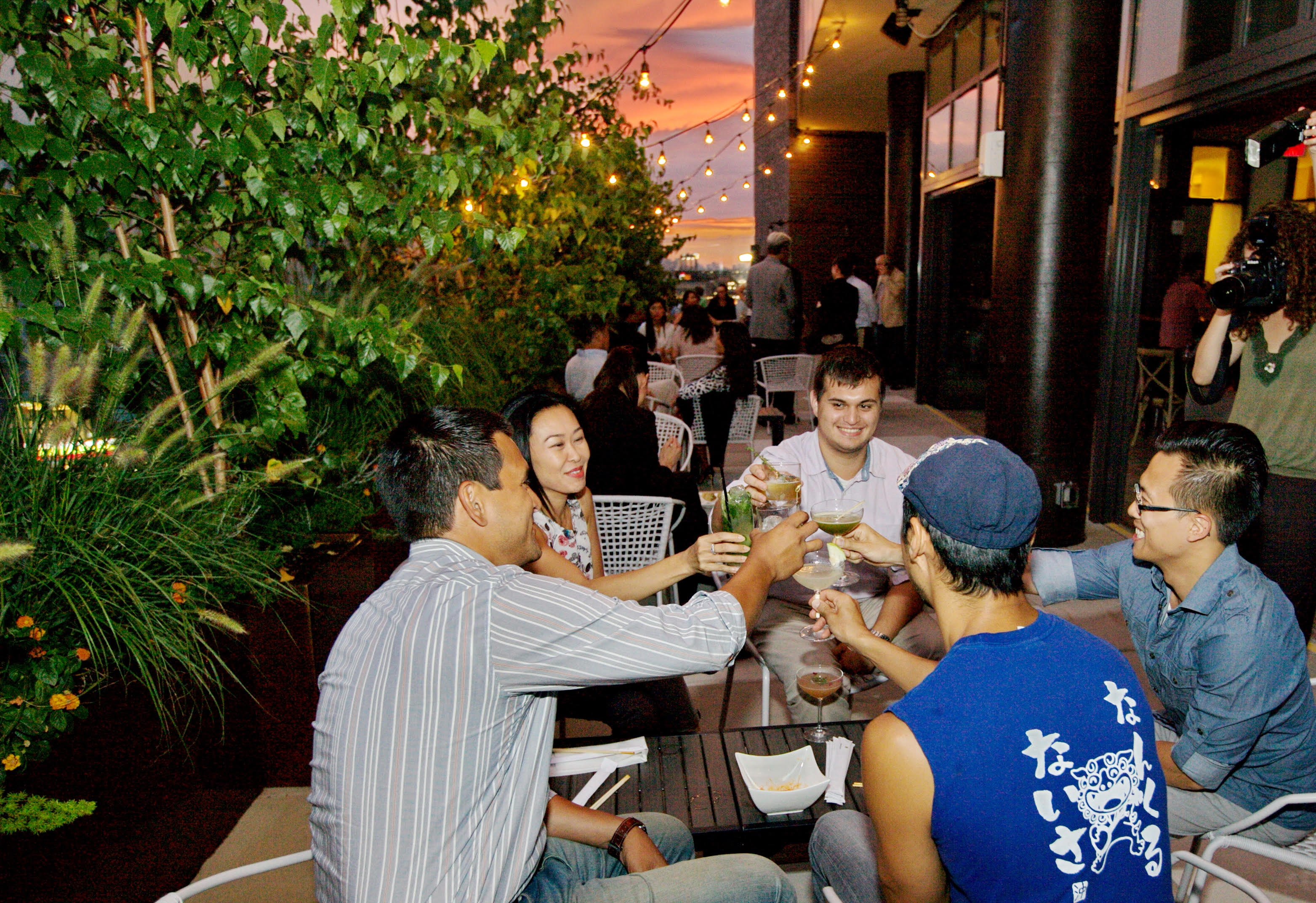 Leaf Bar & Lounge's outdoor patio