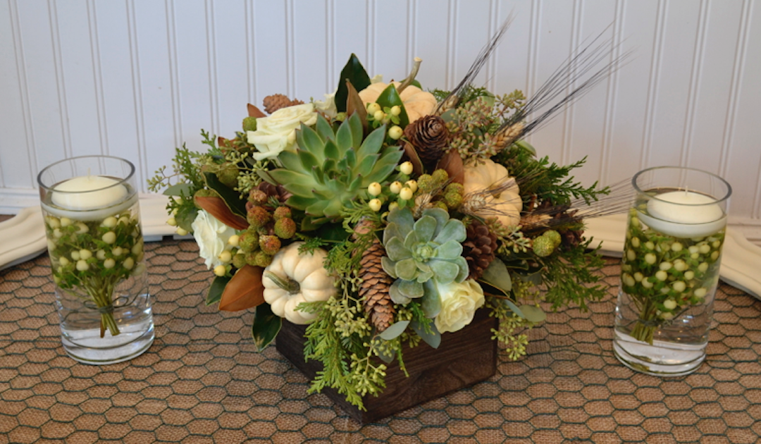 Earthy and Elegant Winter Holiday Centerpiece