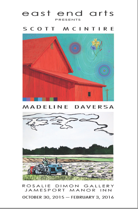 Artworks currently on display at the Rosalie Dimon Gallery in Jamesport, a satellite location for East End Arts