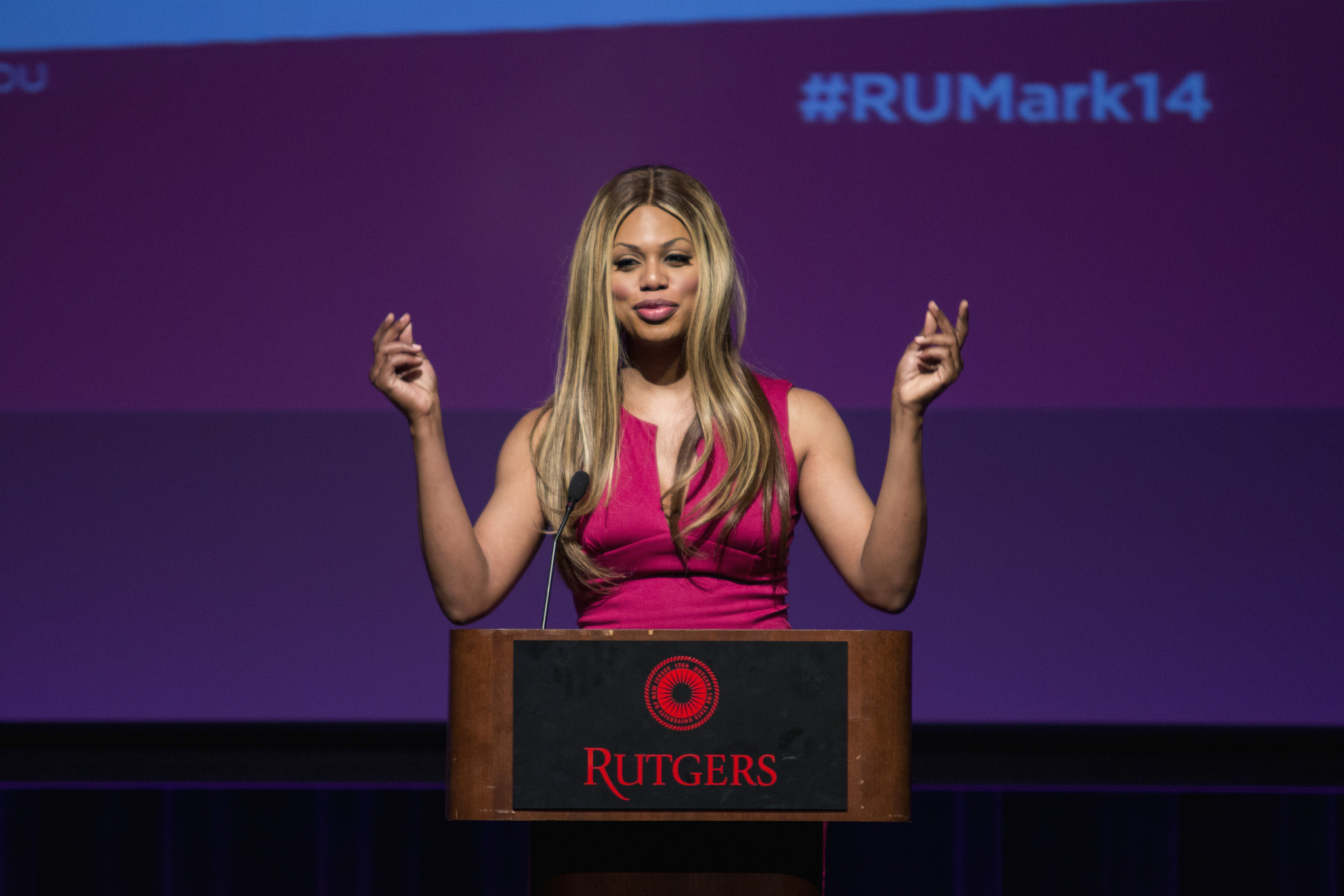 Orange is the New Black star and activist Laverne Cox also plays a transgender woman on the hit netflix series image: carolina cuartas