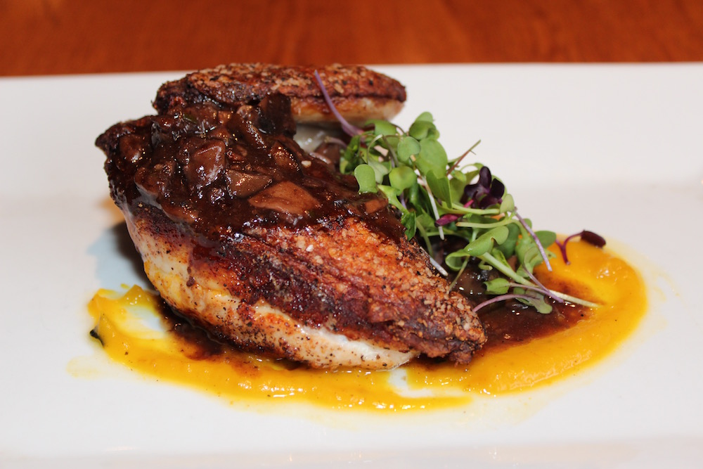 Cast iron seared chicken from Spuntino Wine Bar & Italian Tapas