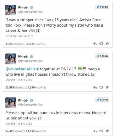 amber rose versus khloe kardashian