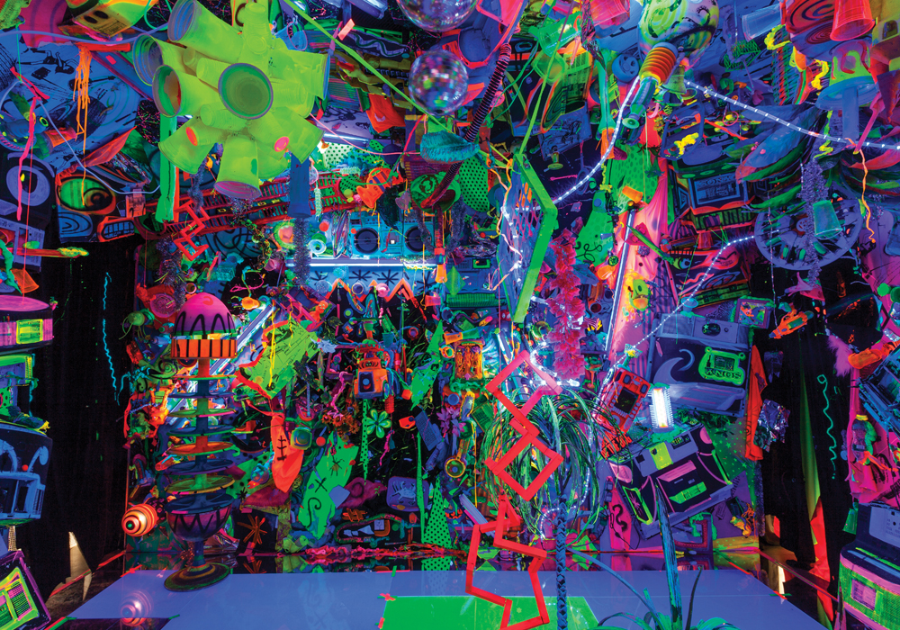 Kenny Scharf. From the Cosmic Cavern Installation Collection of the artist