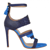 "For the office or a night on the town. OYSBY London ""Desiree"" blue snake heels available at oysby.com."
