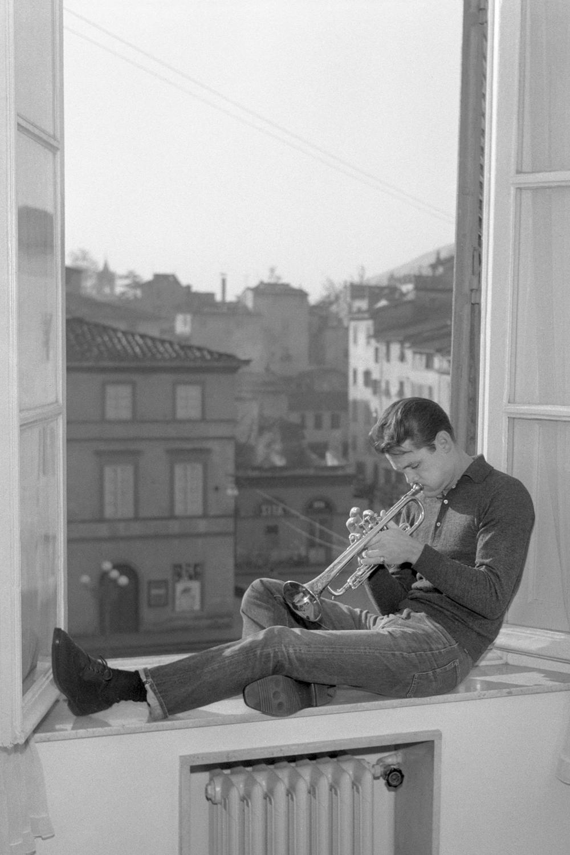 American jazz musician Chet Baker in Lucca 1961