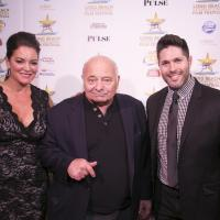 Ingrid Dodd of the Long Beach International Film Festival, honoree Burt Young (actor and artist) and Craig Weintraub of the Long Beach International Film Festival image: len marks photography