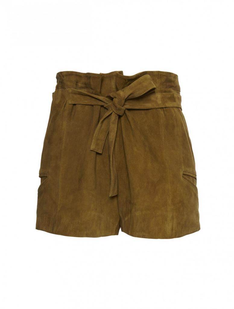 "Scoop ""Suede Paperbag Short"" available at www.scoopnyc.com."