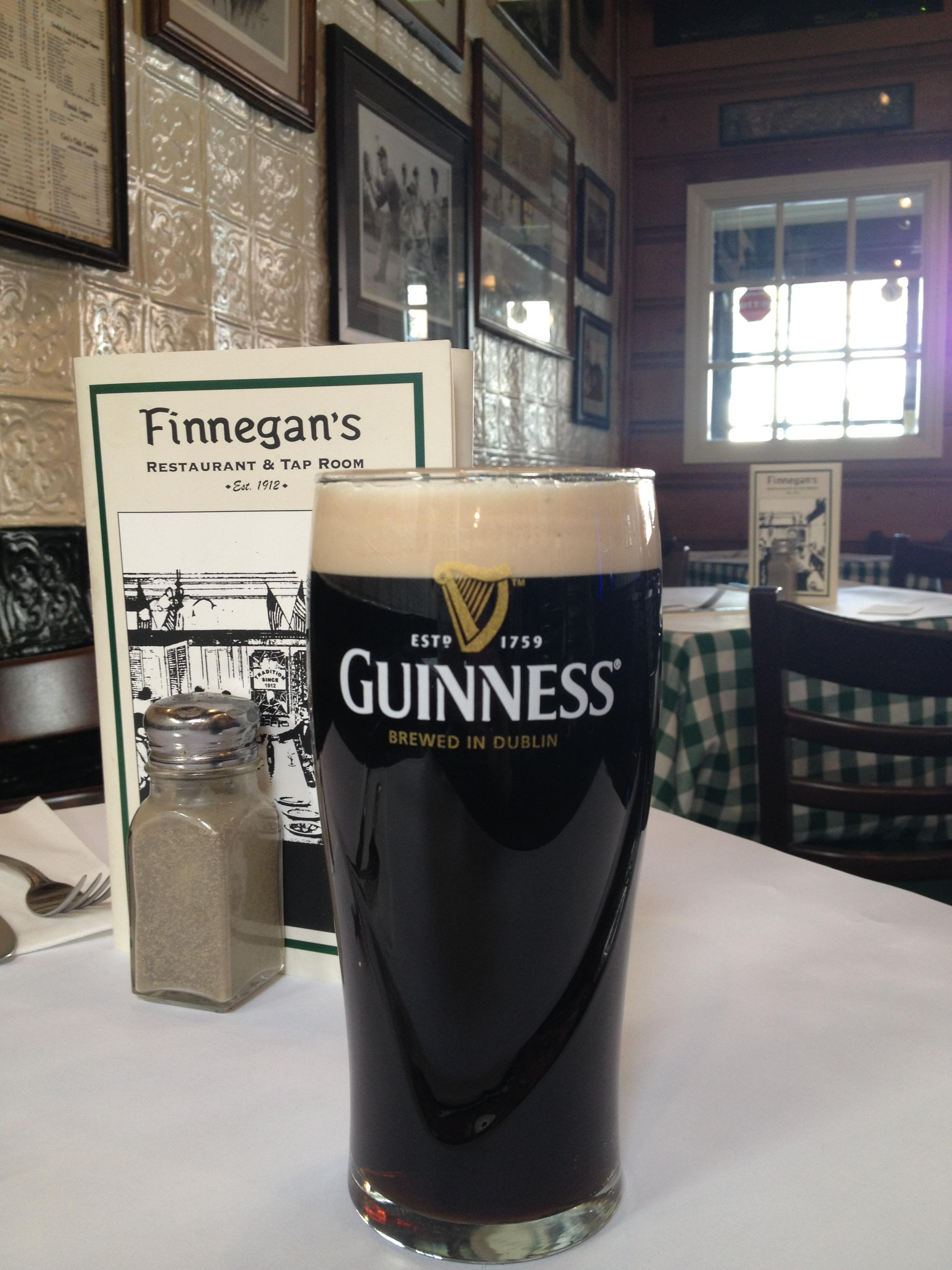 It wouldn't be St. Patrick's Day without a perfectly poured pint of Guinness image: finnegan's restaurant & tap room