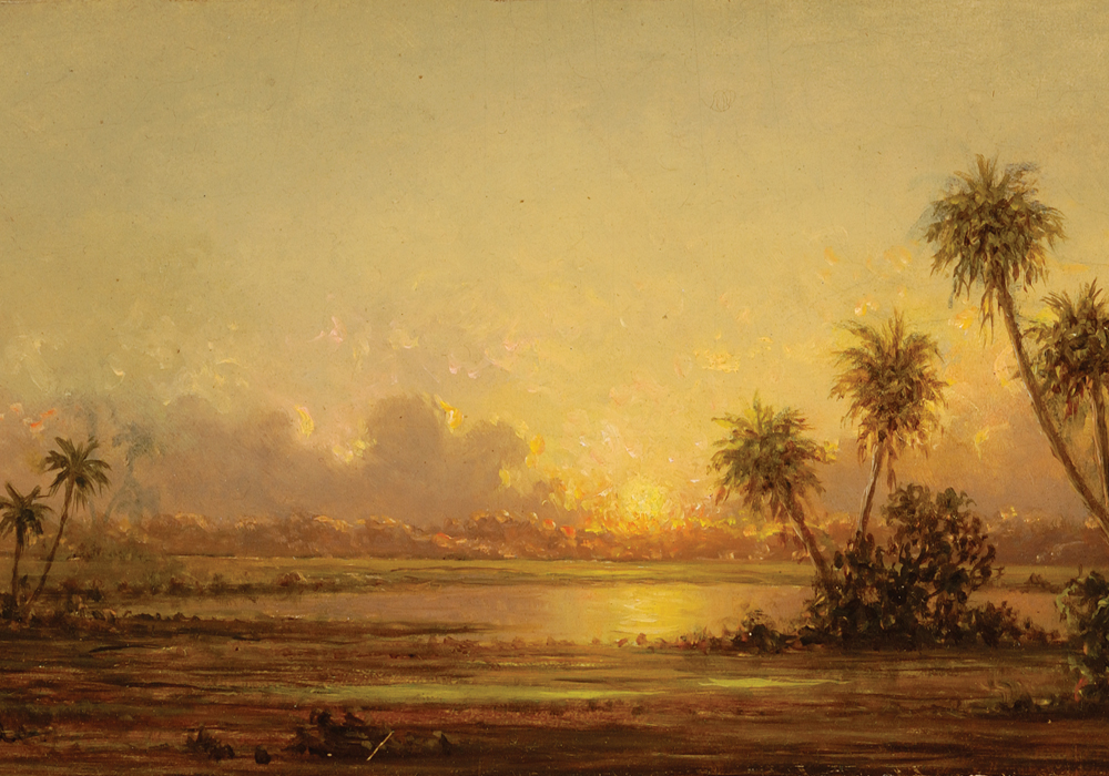 "Martin Johnson Heade, ""A Florida Marsh"""