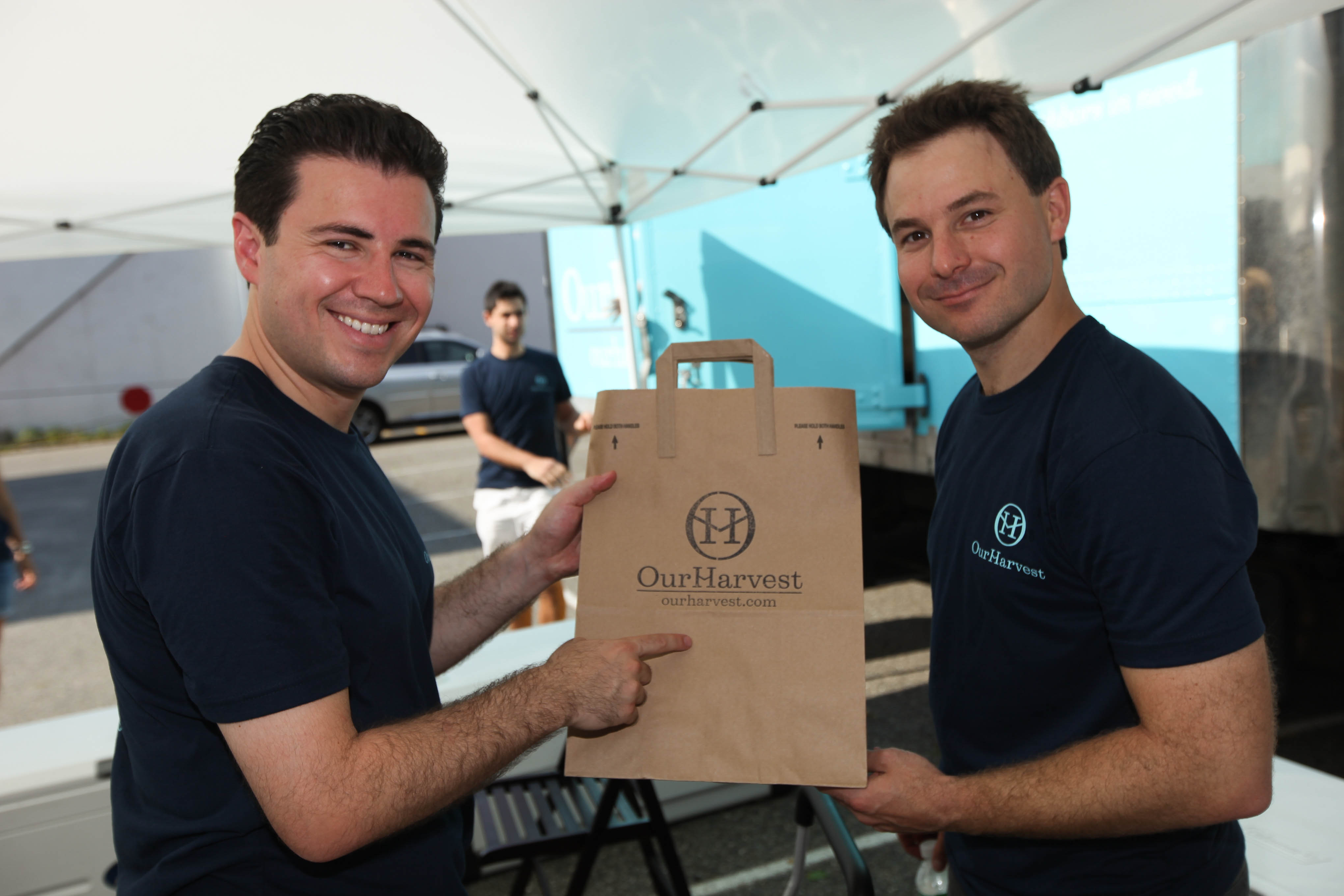 OurHarvest cofounders Scott Reich and Mike Lynch. image: ourharvest