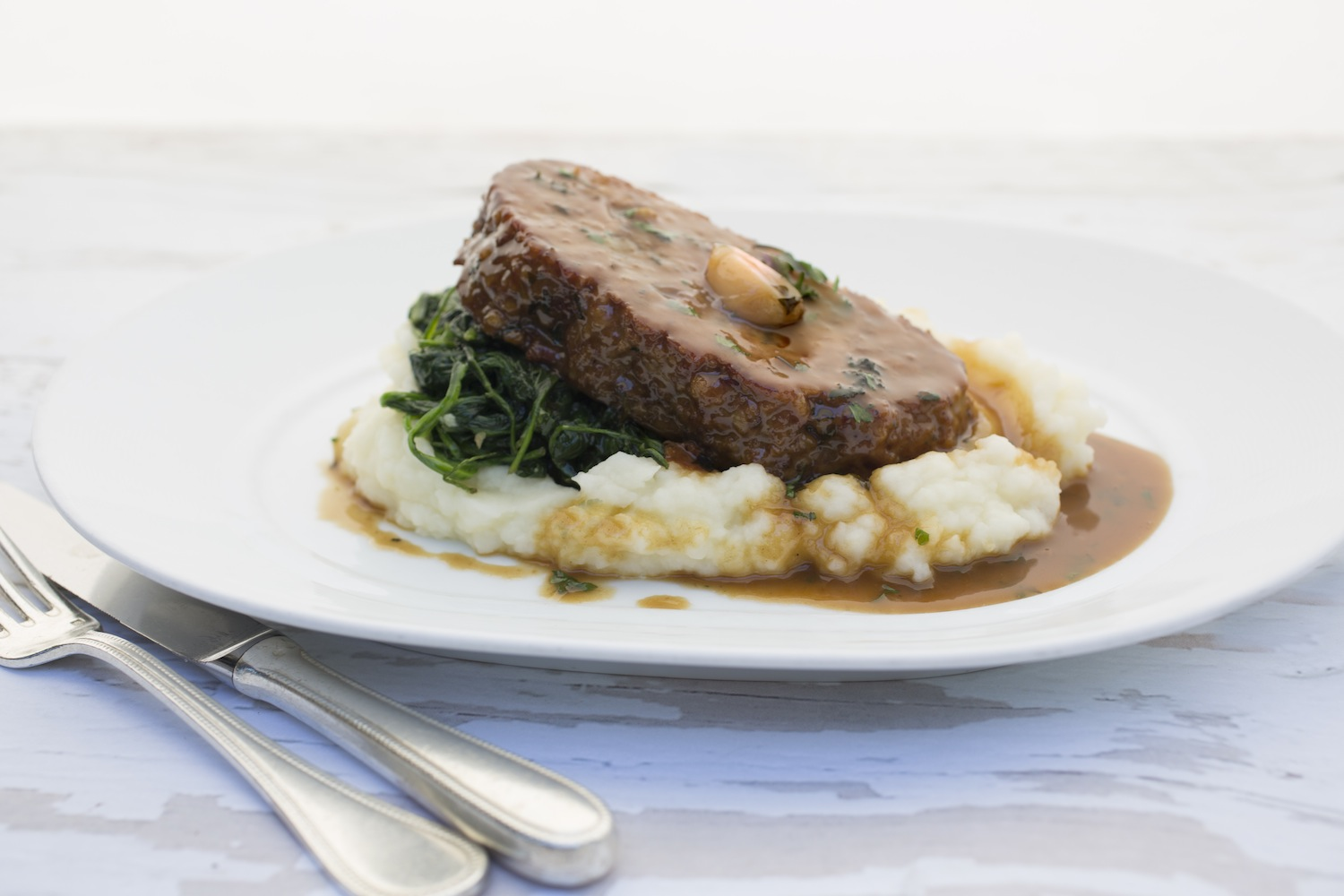 The 1770 House_Tavern Meatloaf, Spinach, Mashed Potatoes, Roasted Garlic Sauce_Photo Credit Robyn Lea-1