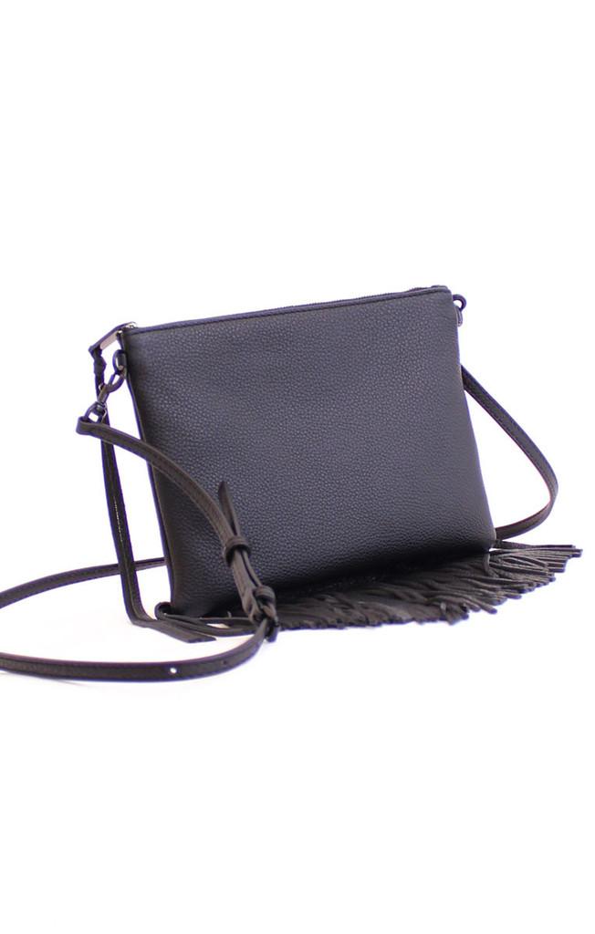 Rebecca Minkoff Fringe Jon Crossbody $145 image: mint boutiques/shopmint.com