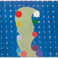 """THOMAS NOZKOWSKI """"Untitled (P-65),"""" 2009 oil on paper"""