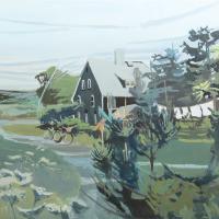 "ROBERT DASH ""Monday Morning (laundry),"" 1972, acrylic on canvas"