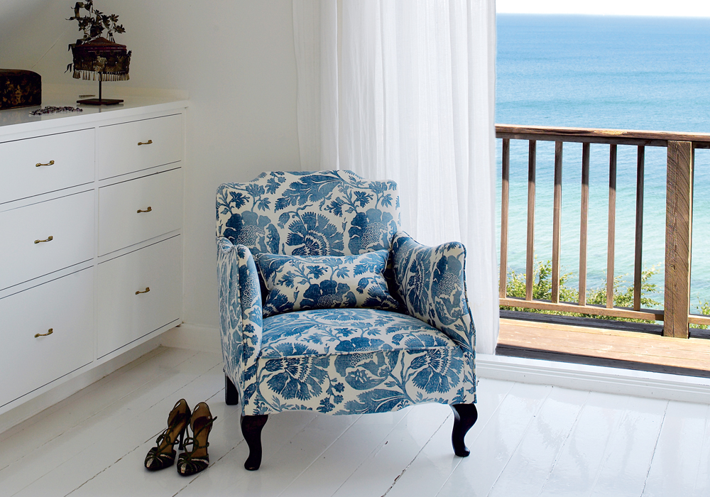 Though the décor inspiration may be from countries thousands of miles away, its bright and airy feel is a perfect fit for Long Island's beachy homes.