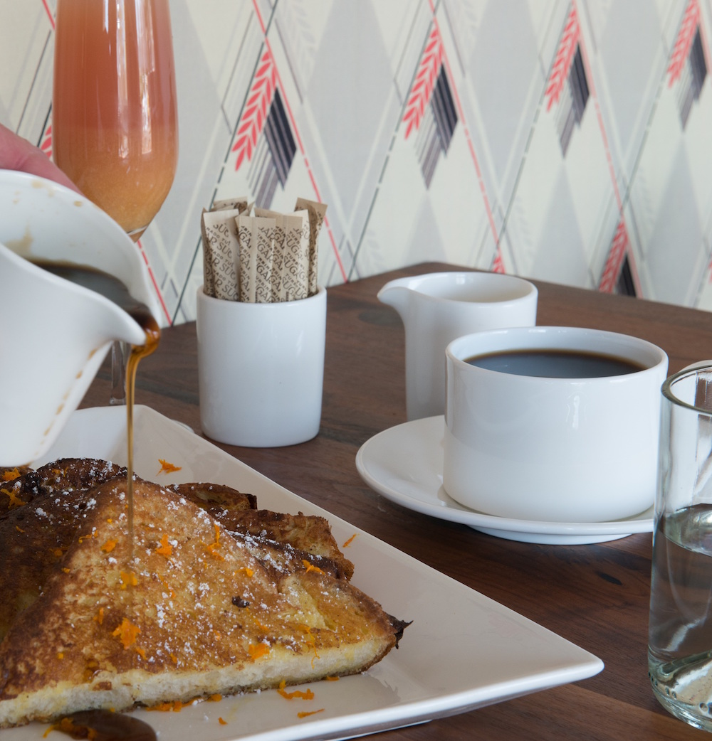 Buttery and delicious, Red Maple's French toast comes with fresh orange zest and fresh Maple syrup image: jane beiles