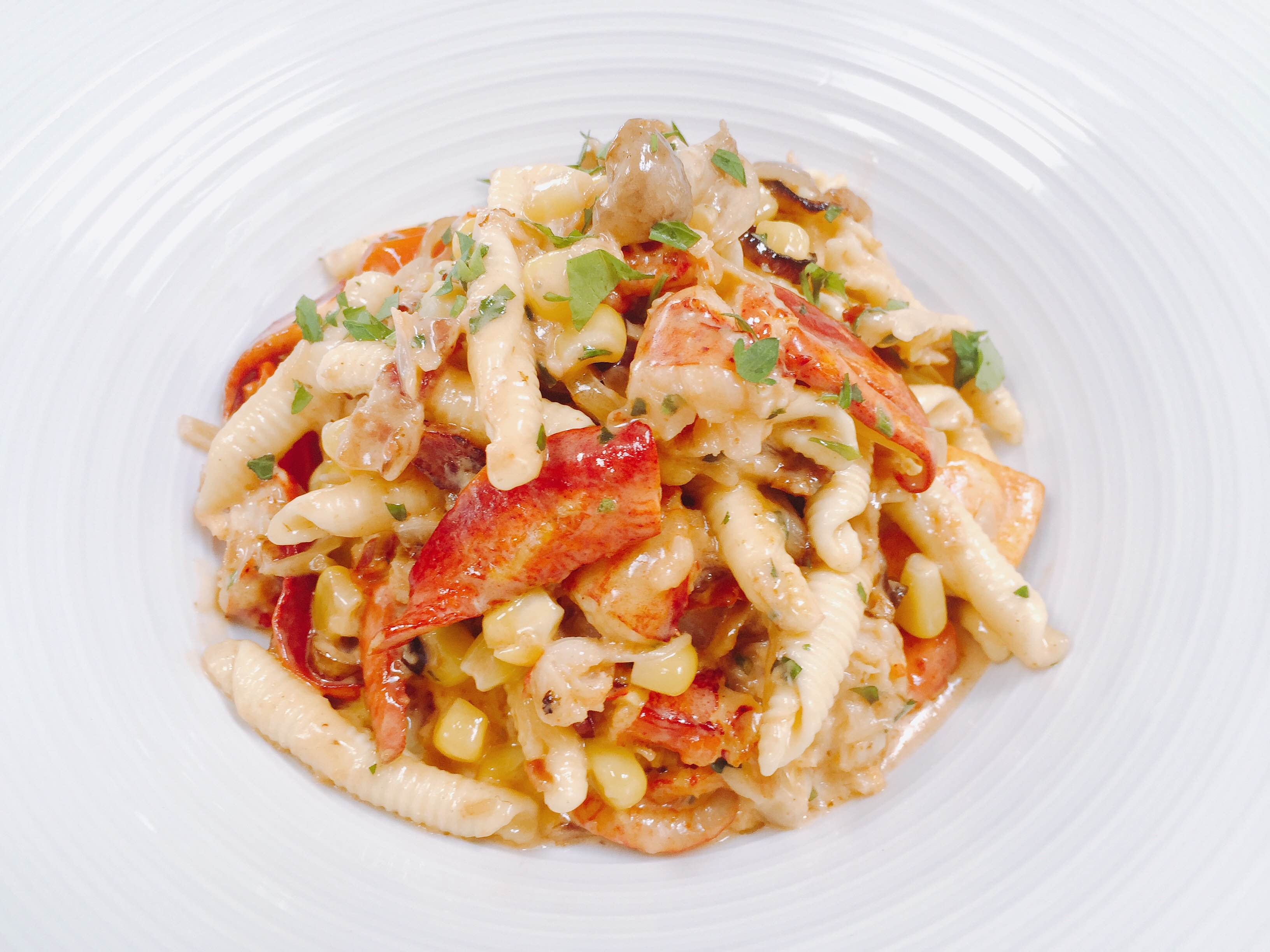 view lobster pasta