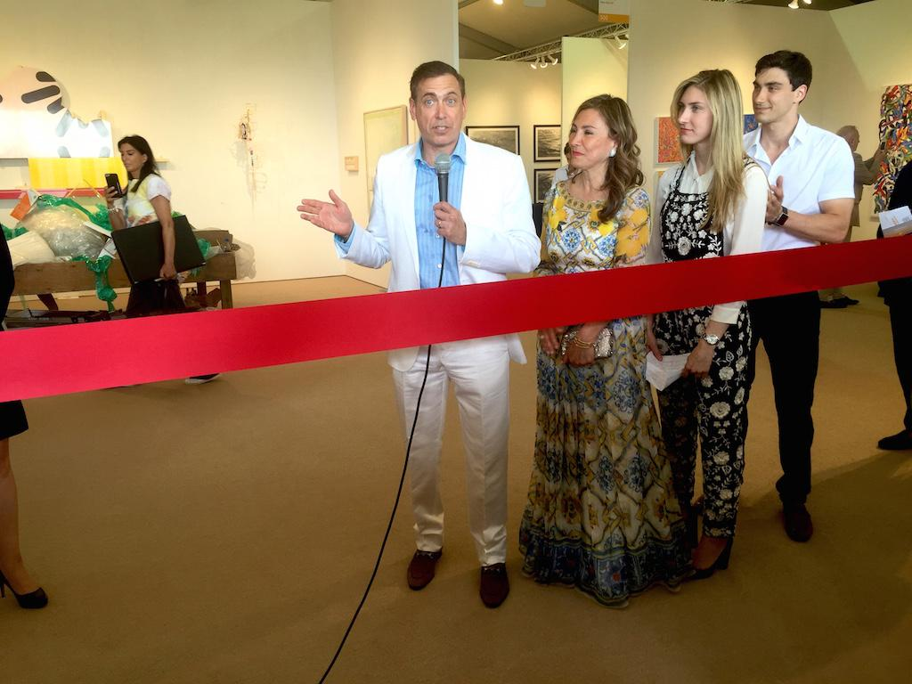 The opening night preview began with a ribbon cutting ceremony and warm welcome from owners of the estate Kenneth and Maria Fishel, accompanied by their children, Melissa and Bradley. image: chelsea d'ambrosio