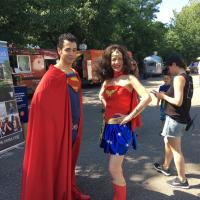 Superman and Superwoman image: elizabeth cantwell