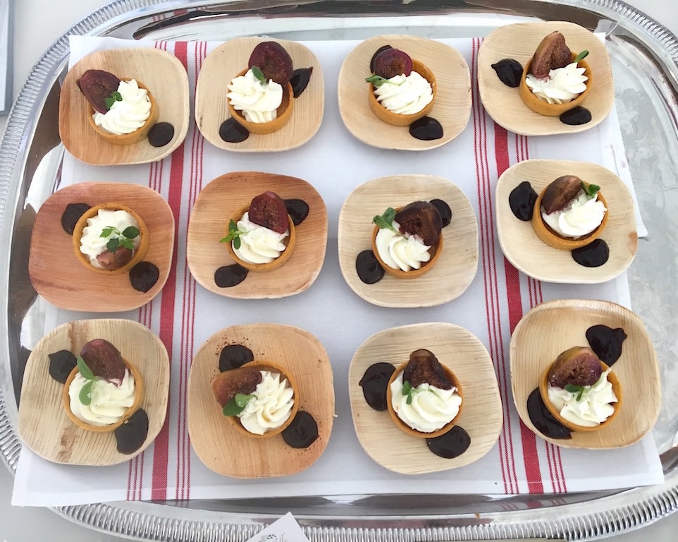 Goat Cheese–Herb Tartlets with Mission Figs - Mirabelle & Sandbar. image: chelsea dambrosio