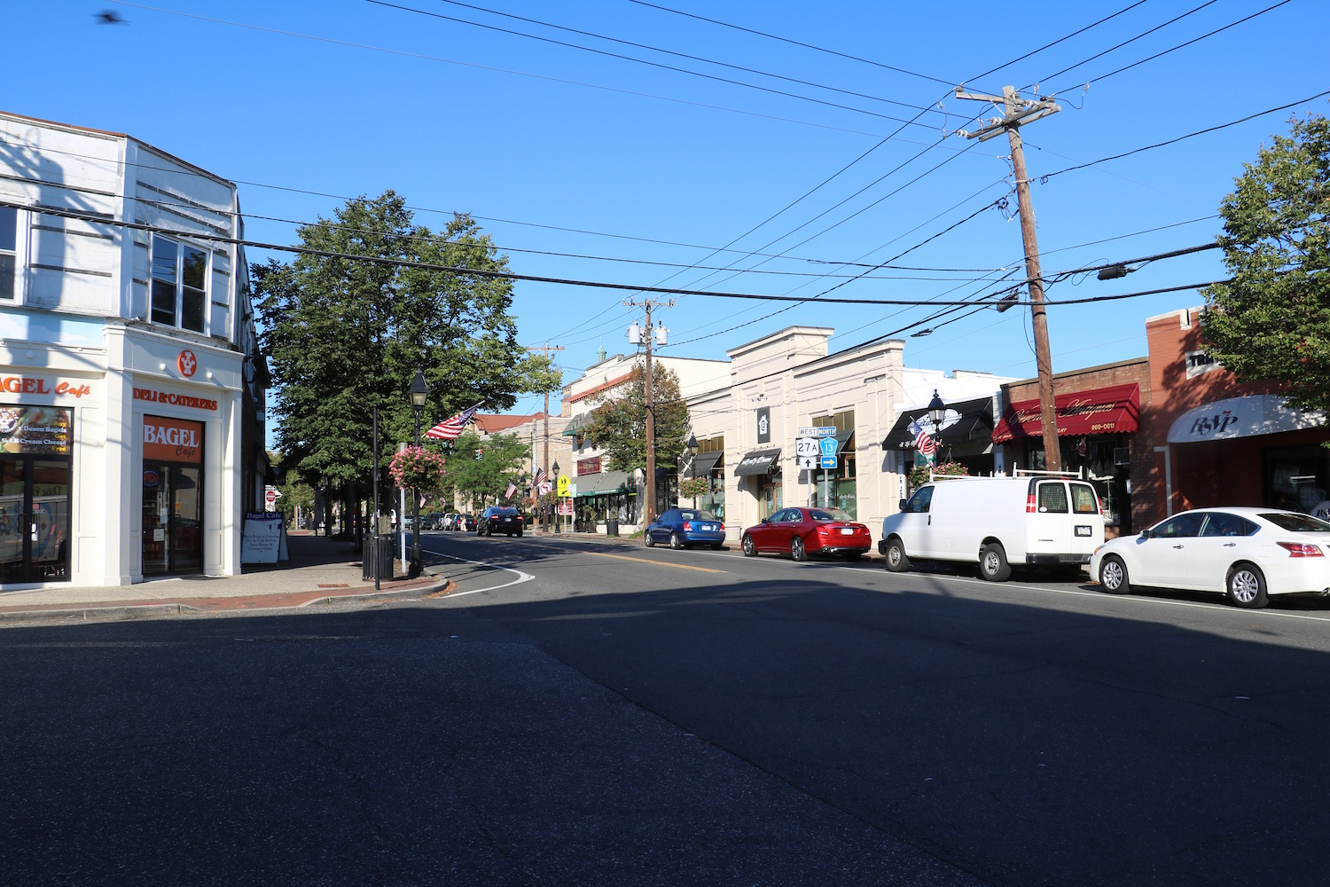 Main Street is bustling, and Bay Shore hopes to beautify the path to it in the coming years image: mary demaio