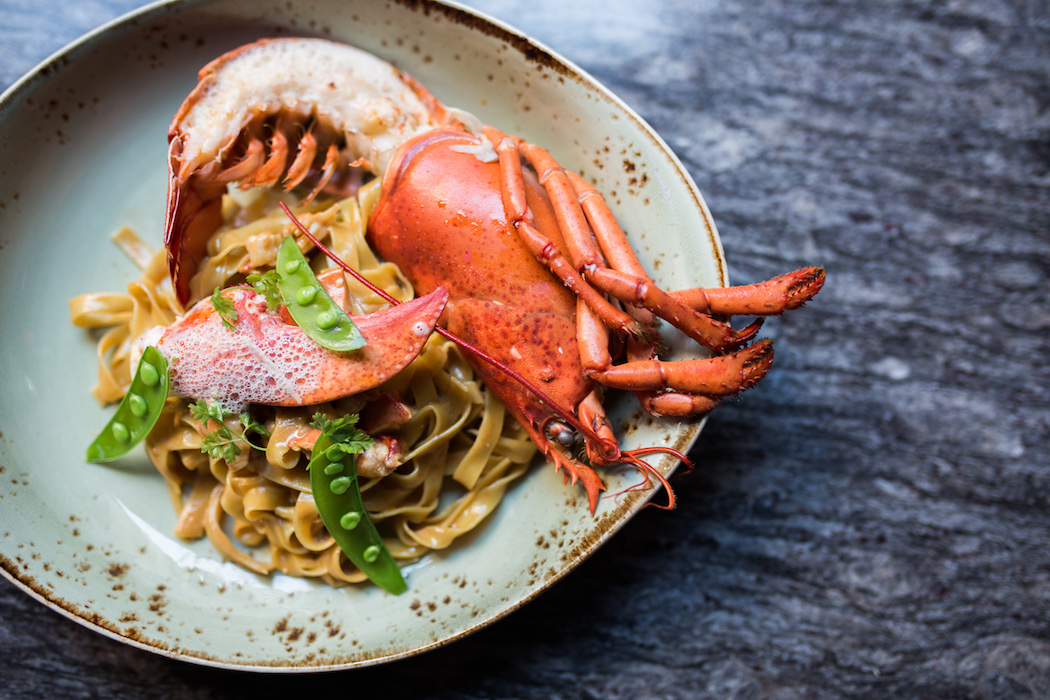 Lobster fettuccine is one of the featured pasta dishes on Union Fare's menu image: dillon burke