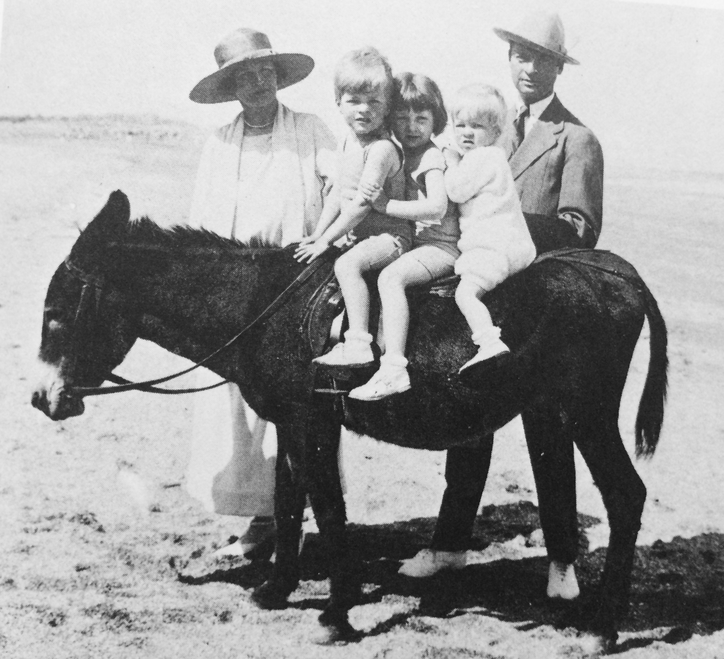 Murphy family on donkey FullSizeRender