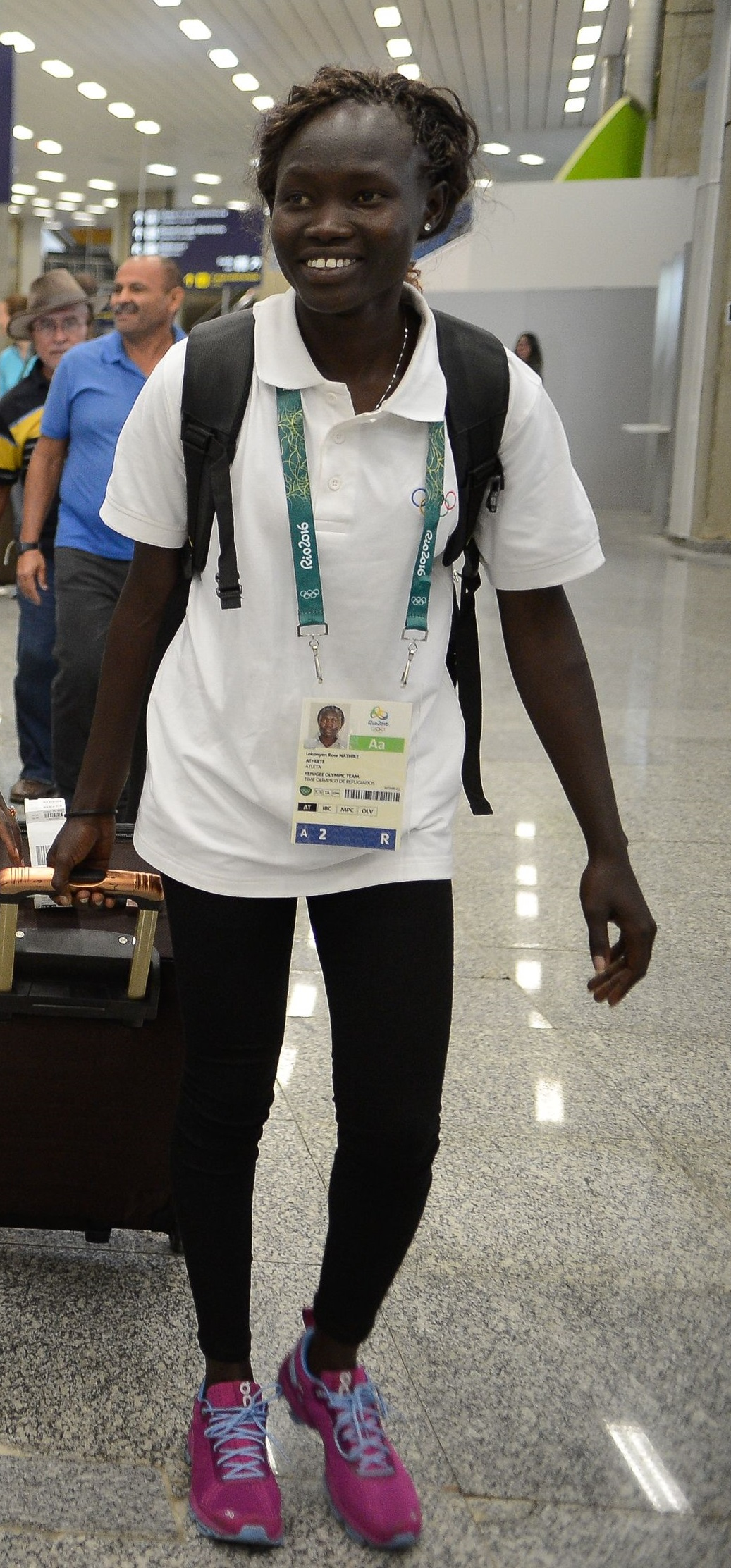Rose Lokonyen arriving in Rio de Janeiro for the Olympic Games image: tomaz silva/agência brasil