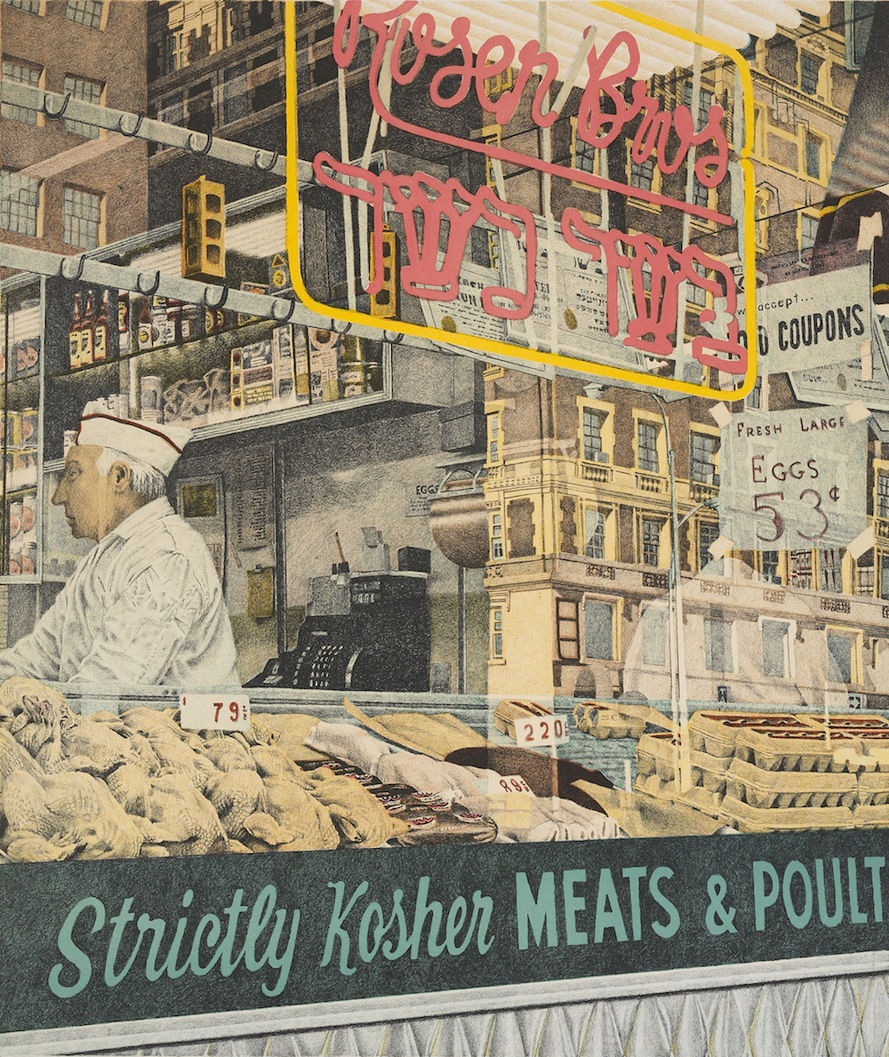 Don Eddy, Rosen Brothers – Strictly Kosher, 1973. Heckscher Museum of Art; Gift of Dr. and Mrs. Samuel S. Mandel.