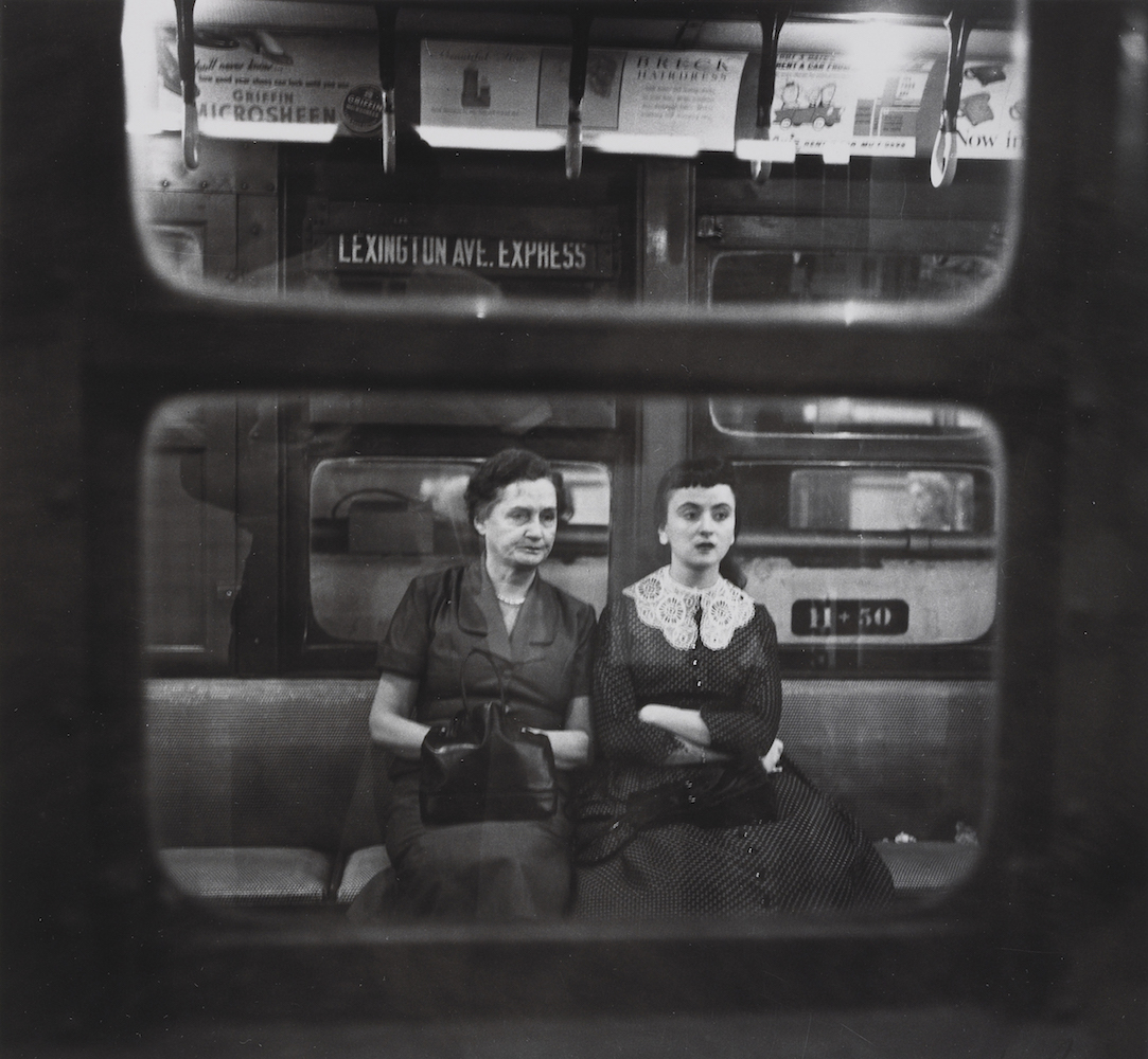 N. Jay Jaffee, Woman and Girl in IRT Train, 1951. Heckscher Museum of Art; Gift of Paula W. Hackeling. © N. Jay Jaffee.