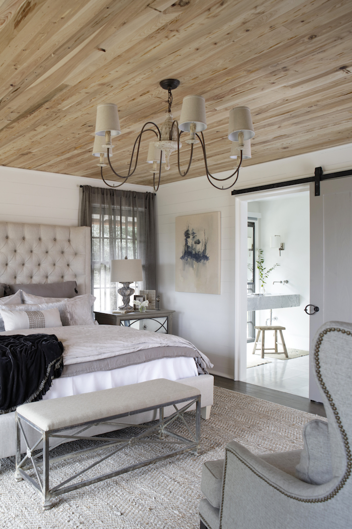 A cozy bed turns a guest room into a respite for guests