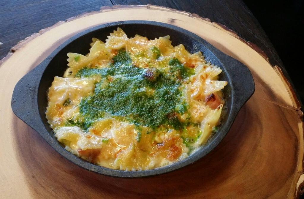 The 'Dirty' Mac and Cheese is a signature starter at The Crispy Pig. image: facebook.com/thedrunkenpigny
