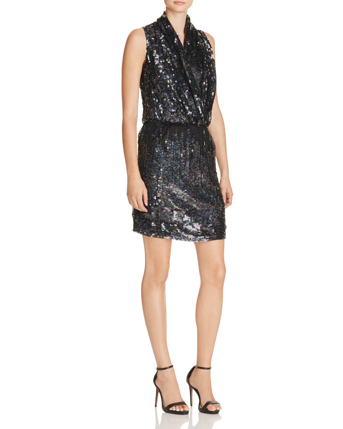 image: Parker Lysette Embellished Silk Dress image: bloomingdale's and bloomingdales.com