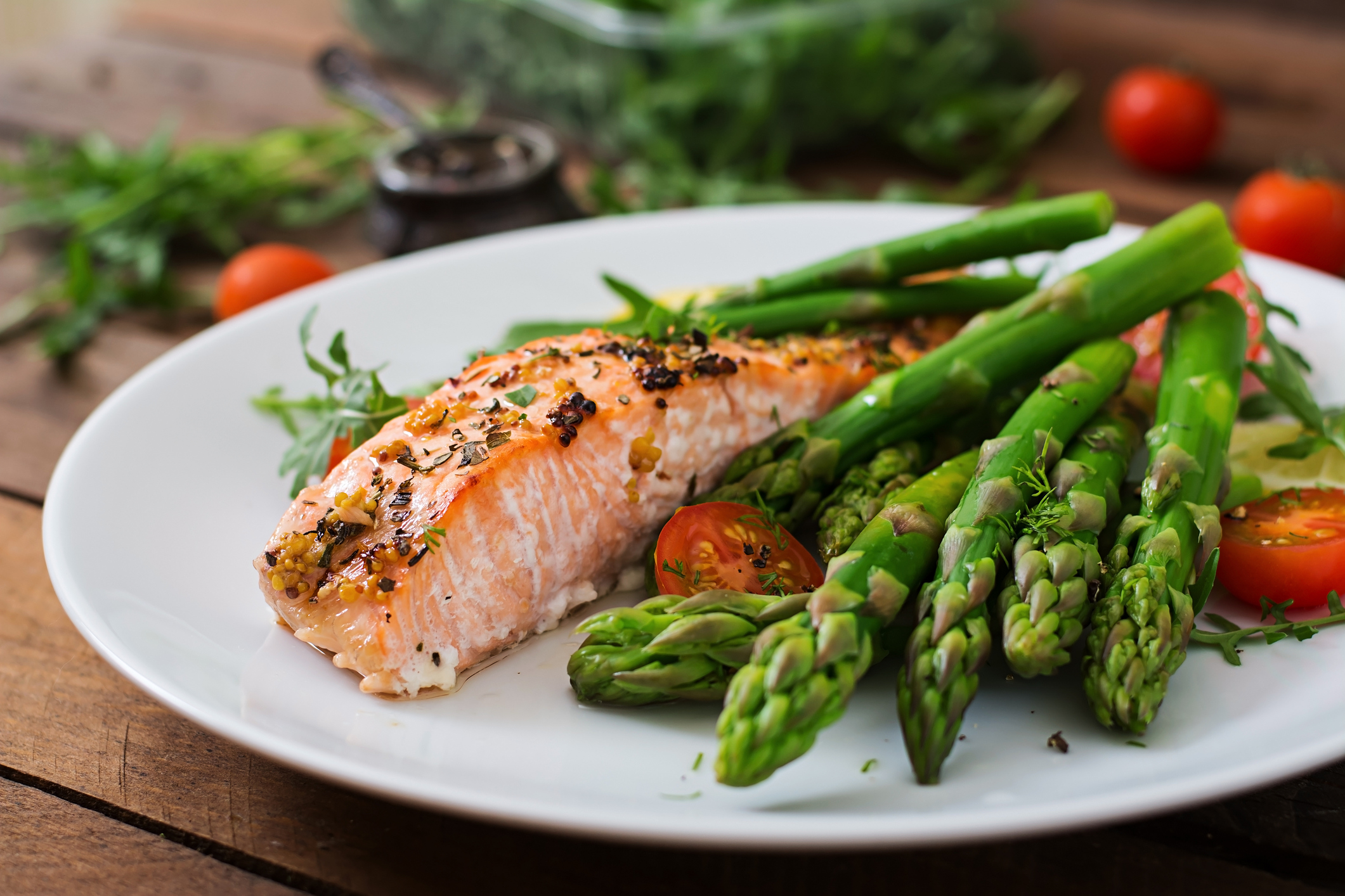 Magnesium-rich foods like salmon can ward off sickness image: elena_danileiko