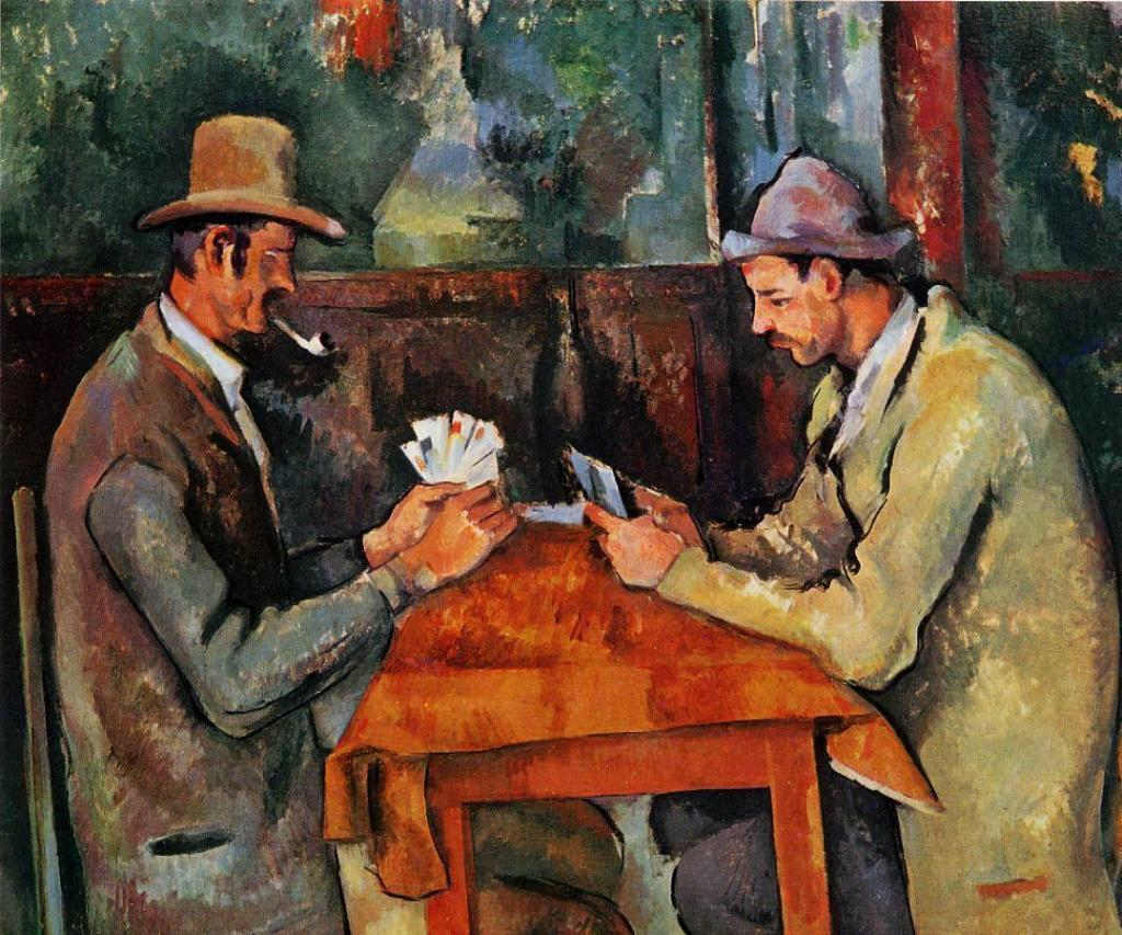 Paul Cézanne painting, The Card Players