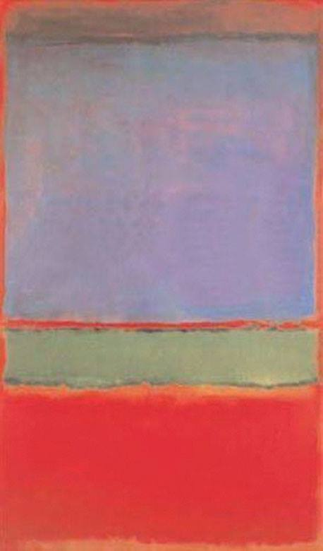 "Mark Rothko's ""No. 6 (Violet, Green and Red)"" image: facebook.com/drawing made easy"