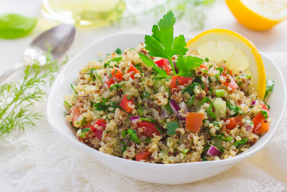 quinoa, parsley and vegetables