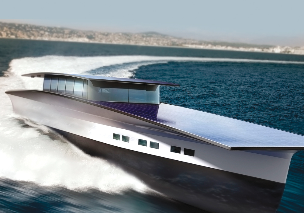 Eco-friendly transport is the wave of the future. This solar powered yacht could possibly never require re-fuelling